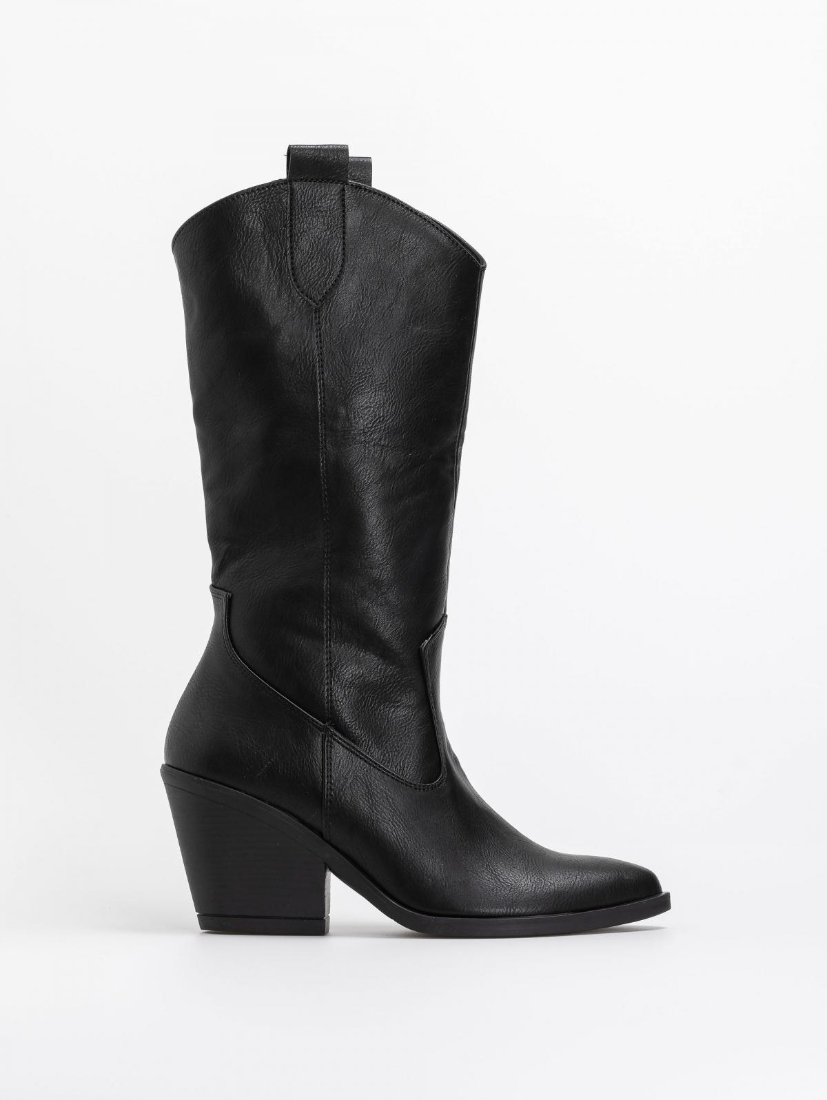 Basic καουμπόικες μπότες - Μαύρο
