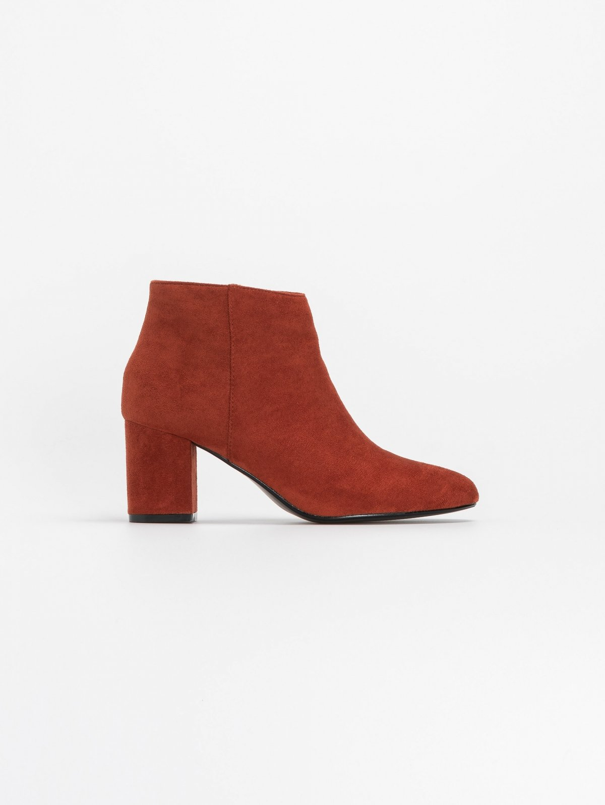 Basic suede ankle boots - Κεραμιδί