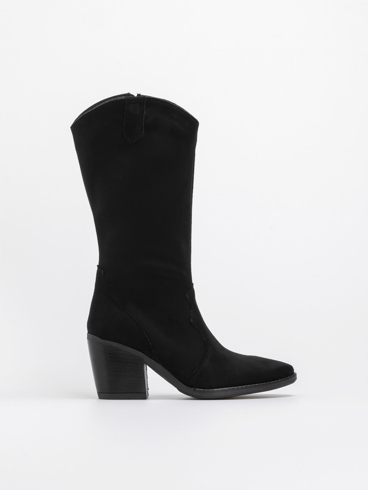 Estil western μπότες 3/4 - Μαύρο