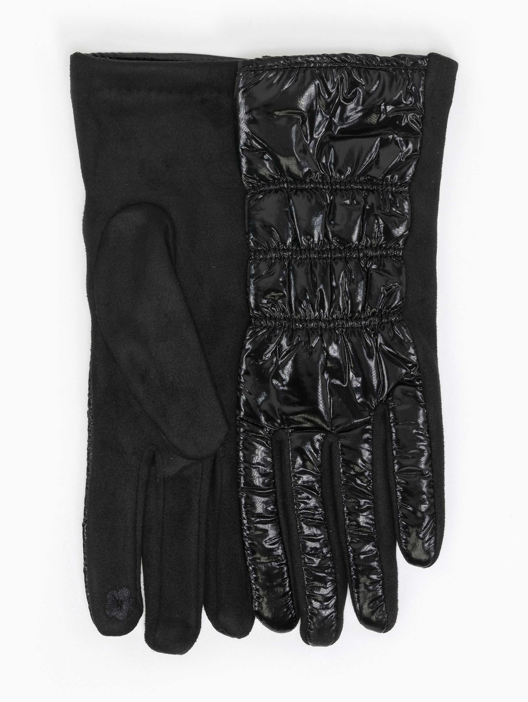 Γάντια καπιτονέ από ανακλαστικό ύφασμα - Μαύρο