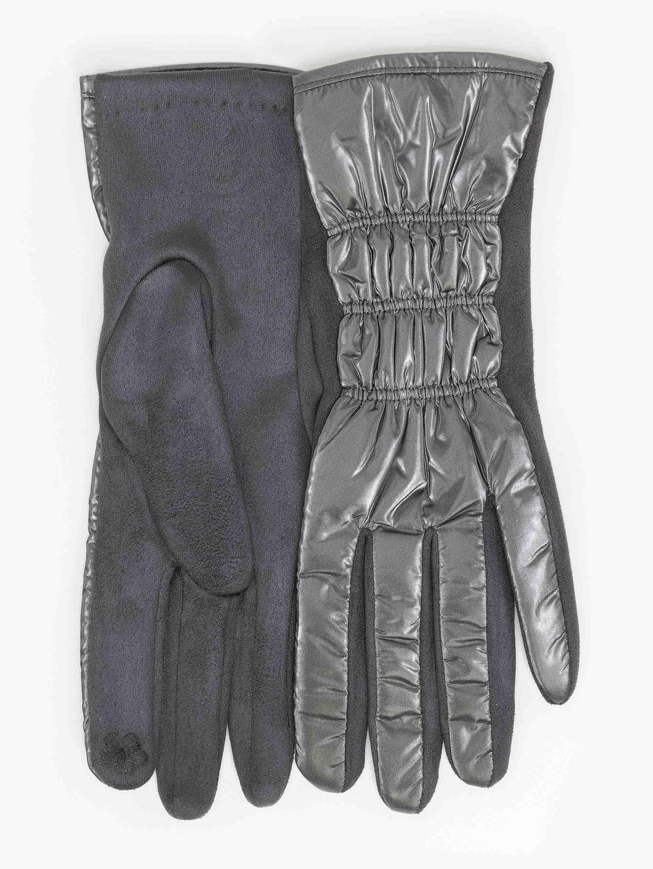 Γάντια καπιτονέ από ανακλαστικό ύφασμα - Γκρι