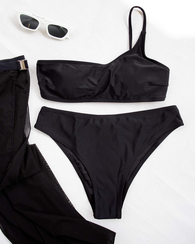 Σετ μπαντό bikini με παρεό - Μαύρο