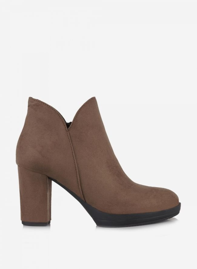 Estil suede ankle boots - Πούρο