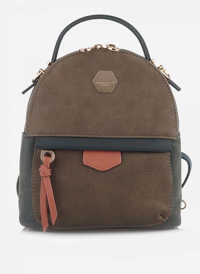 MINI BACKPACK DAVID JONES - Πράσινο