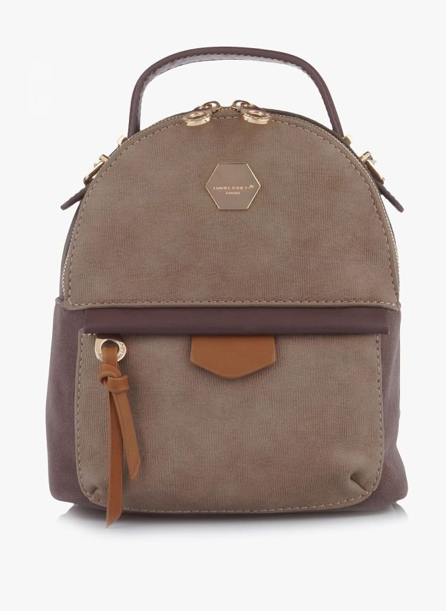 MINI BACKPACK DAVID JONES - Καφέ