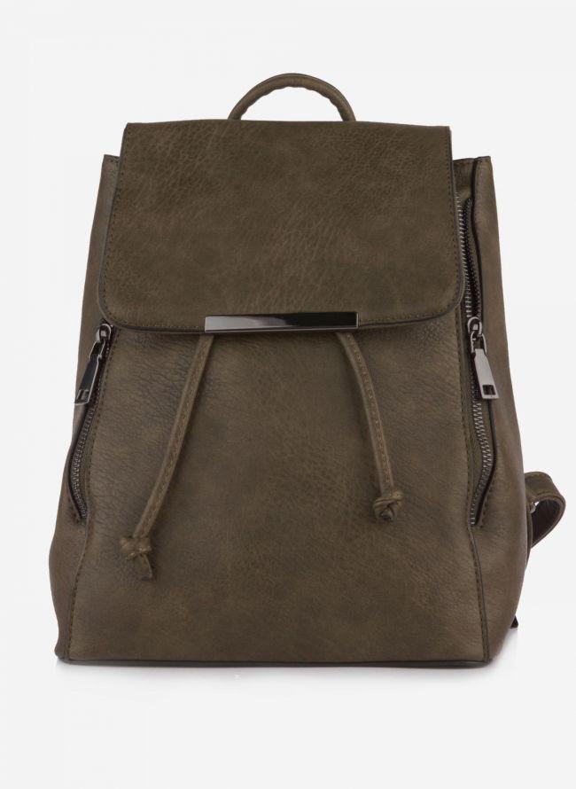 Backpack με καπάκι - Χακί