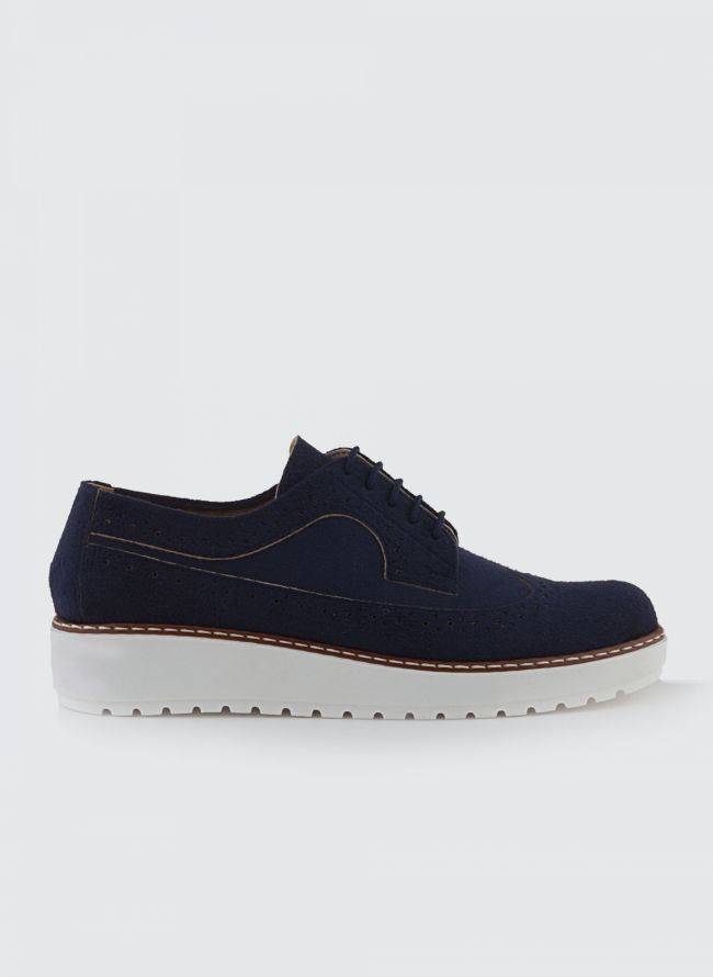 SUEDE FLATFORM OXFORDS P/368