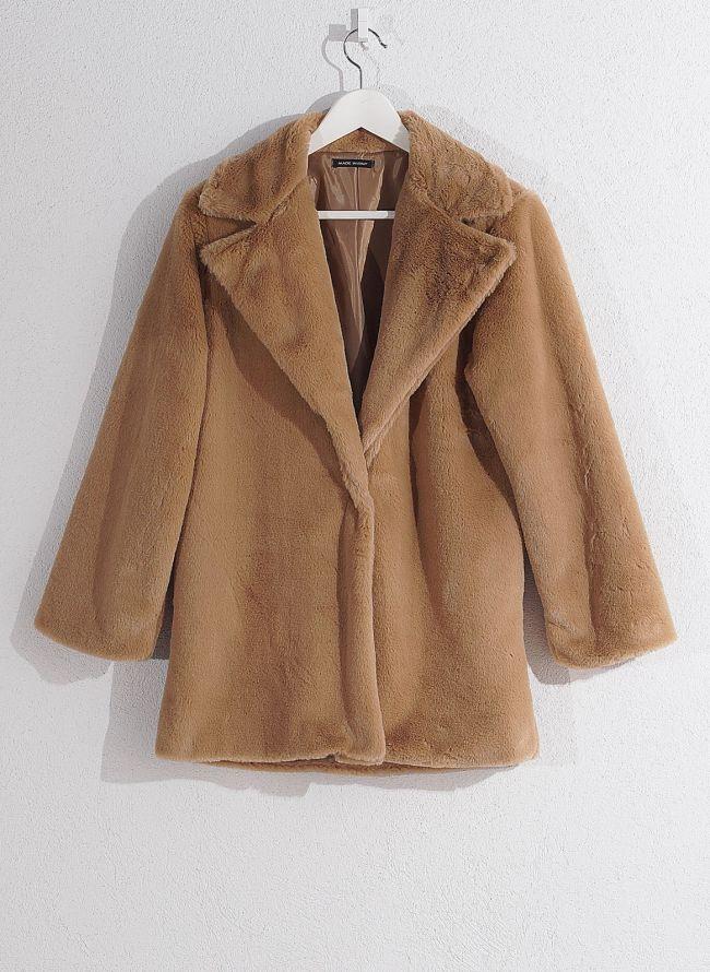Γούνινο παλτό - Μπεζ