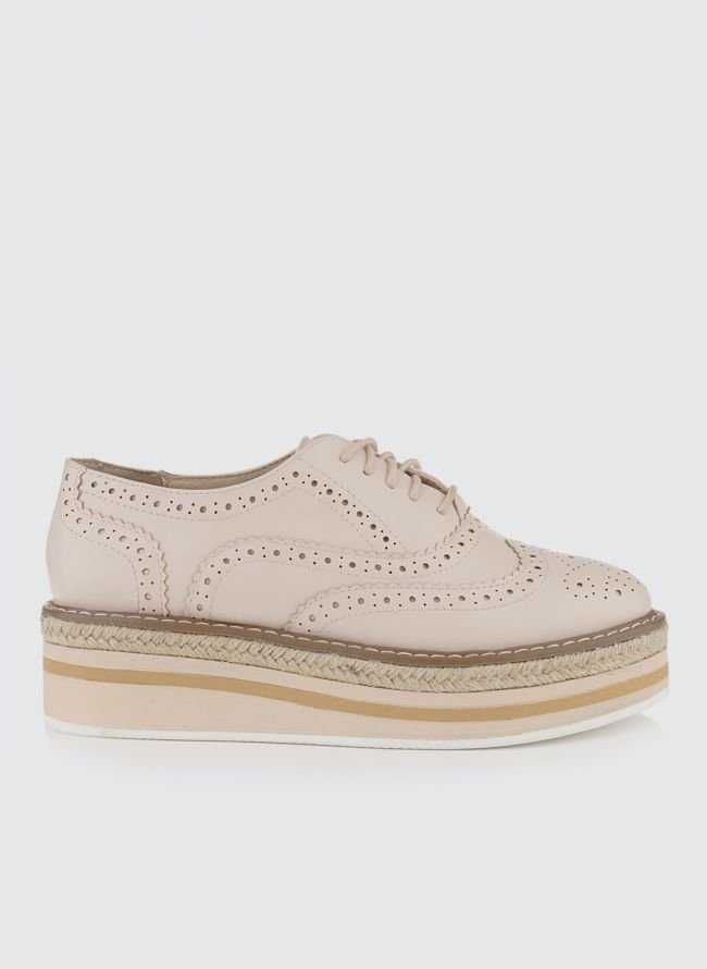 ESTIL FLATFORM OXFORDS 88/01 - Nude