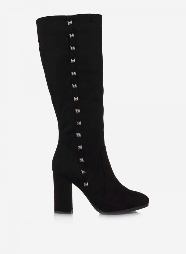 Suede μπότες - Μαύρο