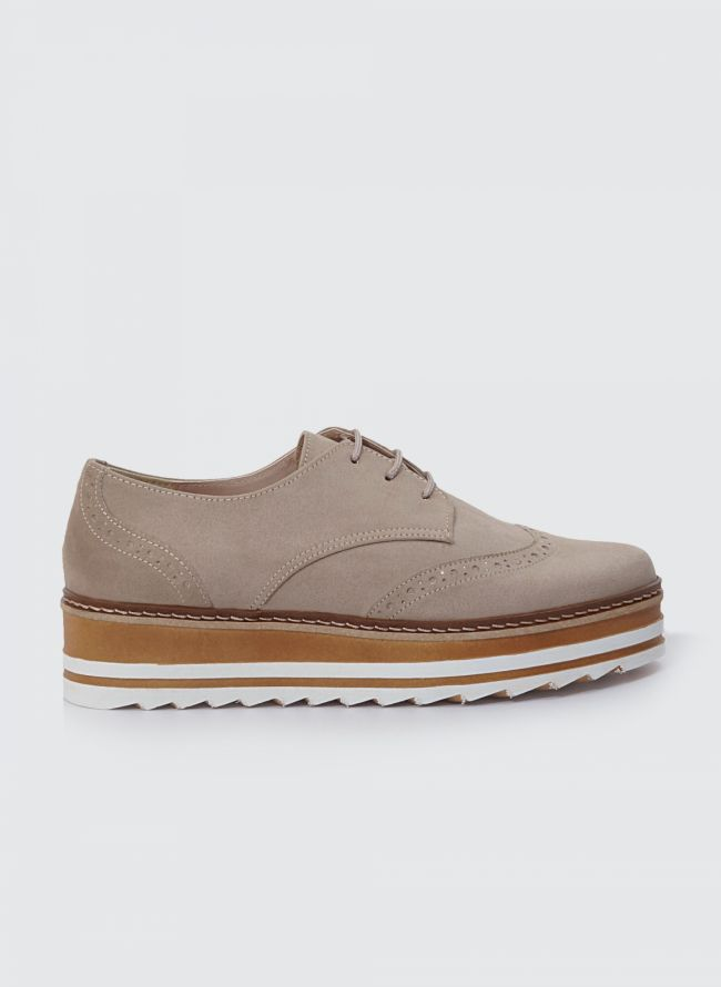 ESTIL SUEDE FLATFORM OXFORDS S45