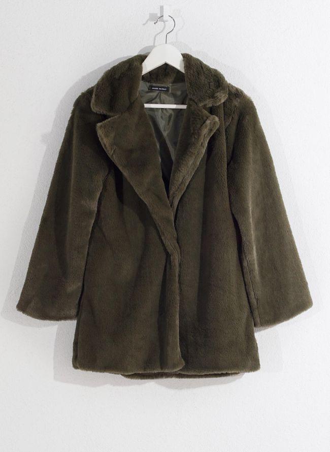 Γούνινο παλτό - Πράσινο