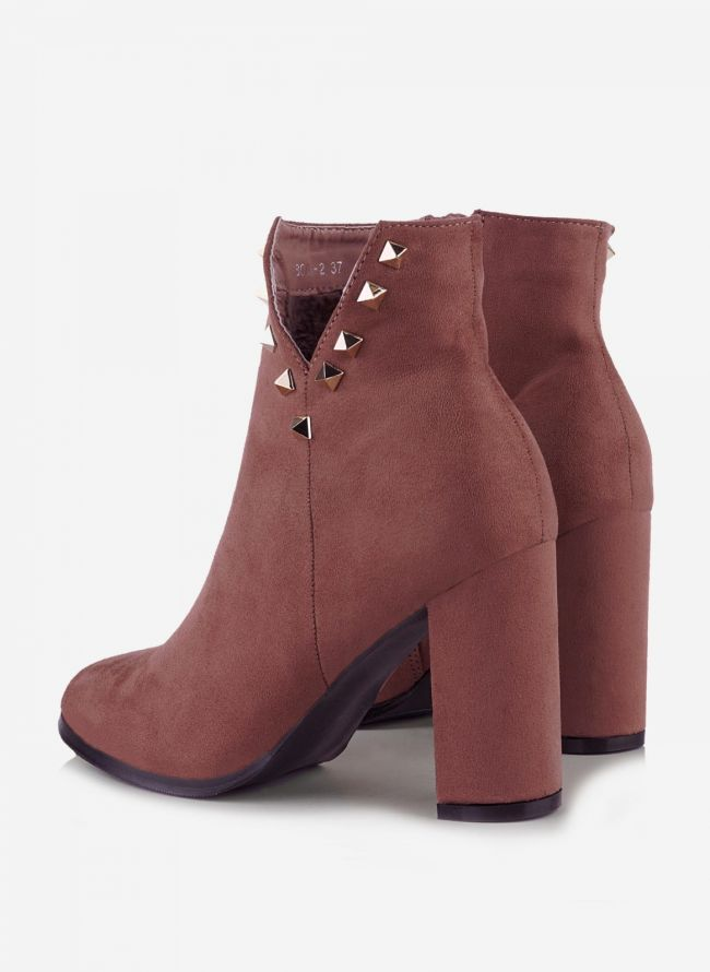 Suede ankle boots - Ροζ
