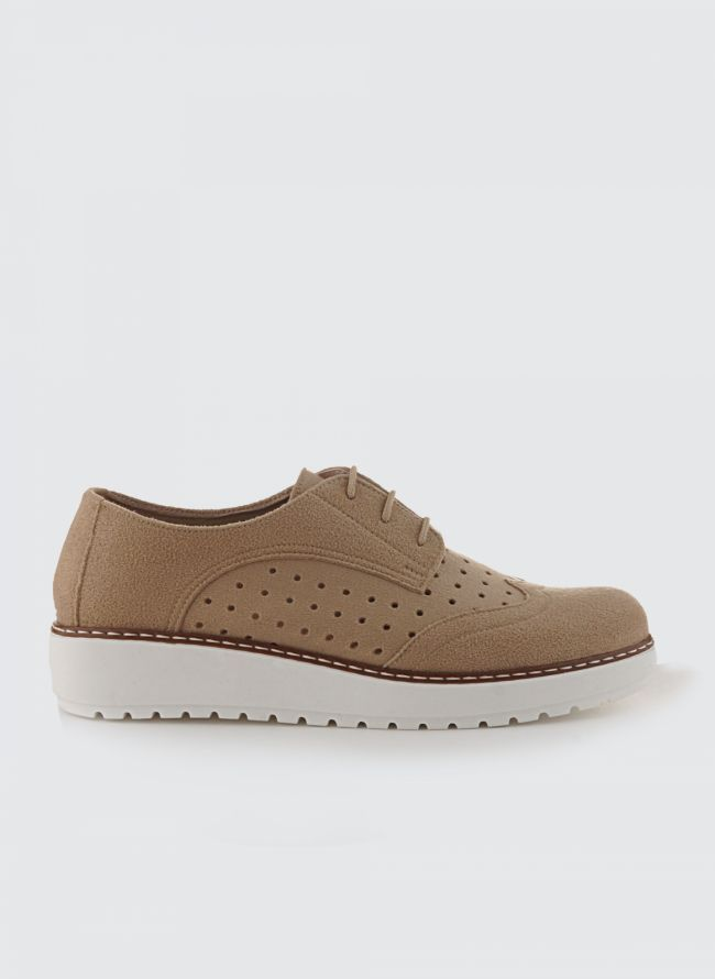 SUEDE FLATFORM OXFORDS P/1252