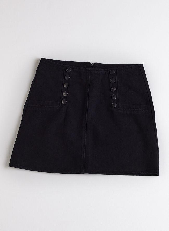 Τζιν φούστα - Μαύρο