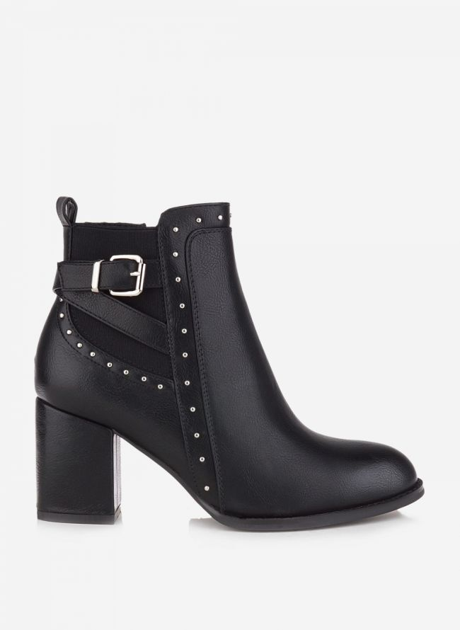 ANKLE BOOTS ΜΕ ΤΑΚΟΥΝΙ - Μαύρο