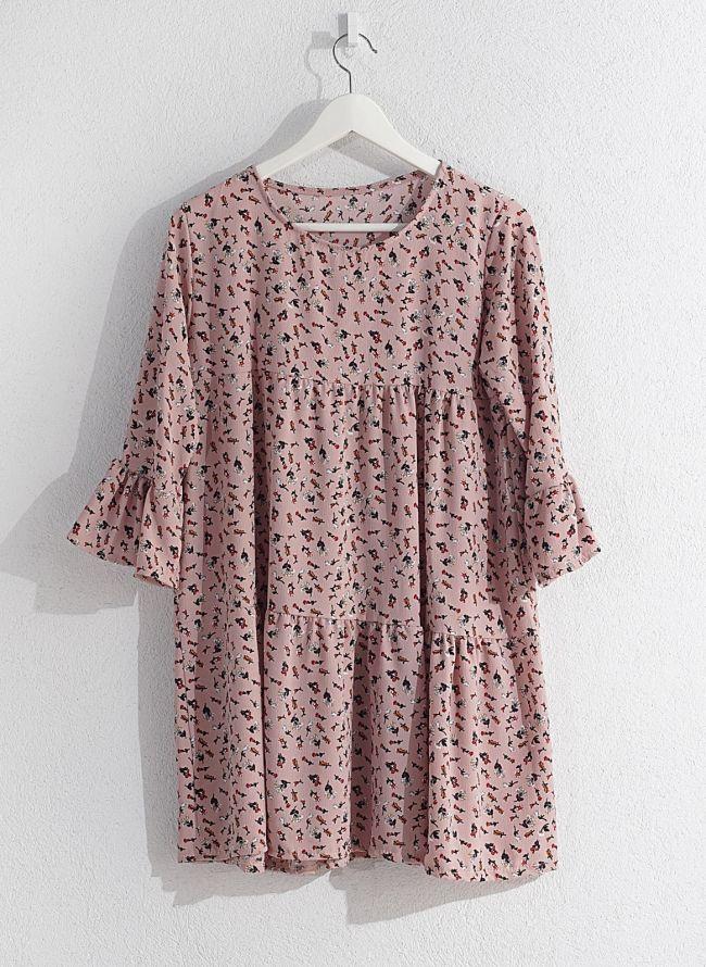 Floral φόρεμα  - Ροζ