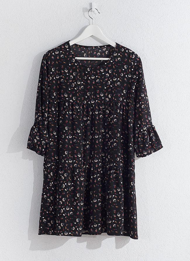 Floral φόρεμα  - Μαύρο