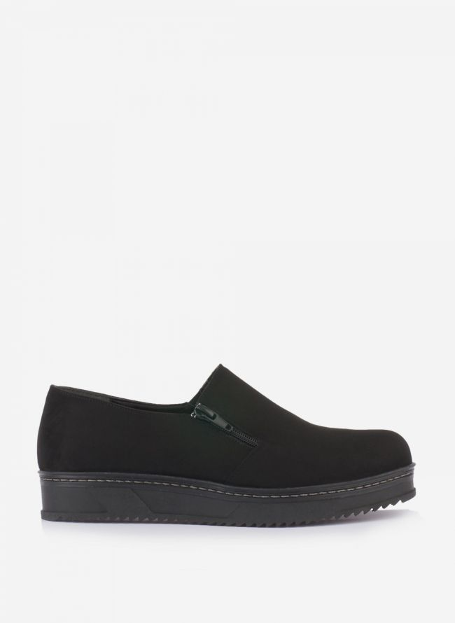 ESTIL SUEDE FLATFORM LOAFERS