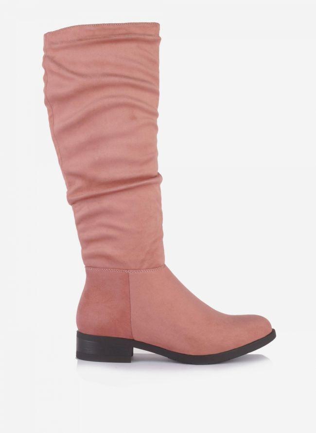 Suede μπότες - Ροζ
