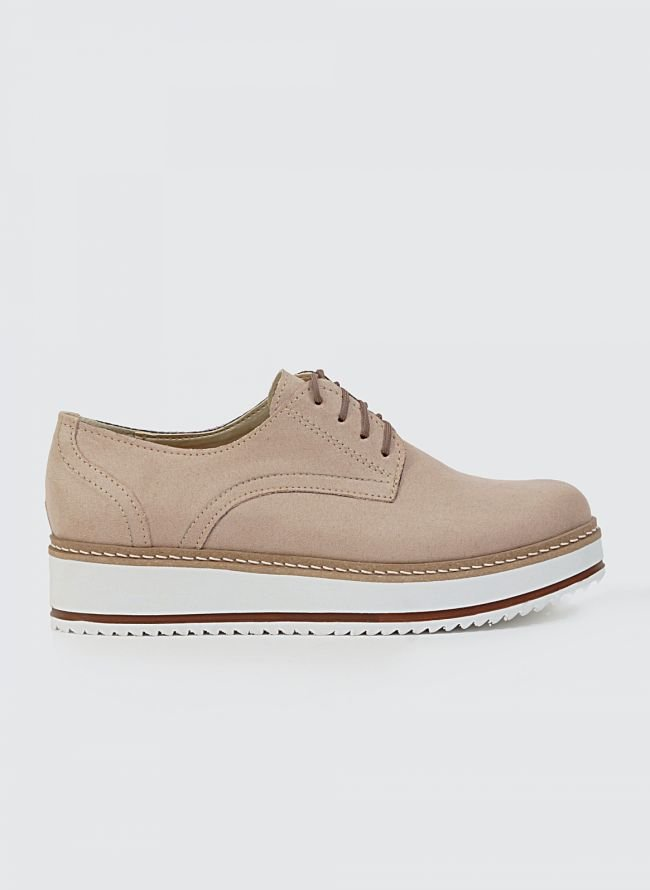 ESTIL SUEDE FLATFORM OXFORDS K40