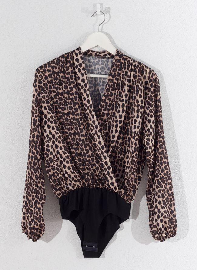 Leopard κρουαζέ κορμάκι