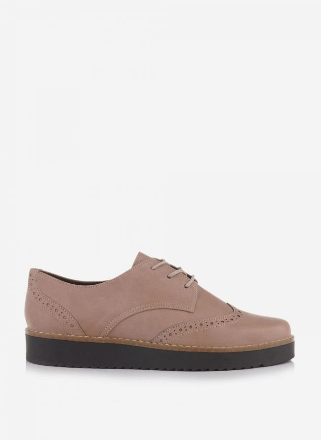 ESTIL FLATFORM OXFORDS - Nude