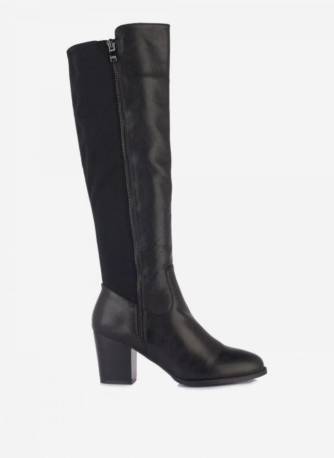 Μπότες με ύφασμα - Μαύρο