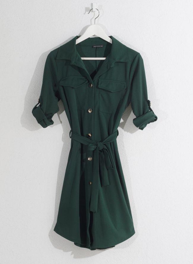 Φόρεμα-πουκάμισο - Πράσινο
