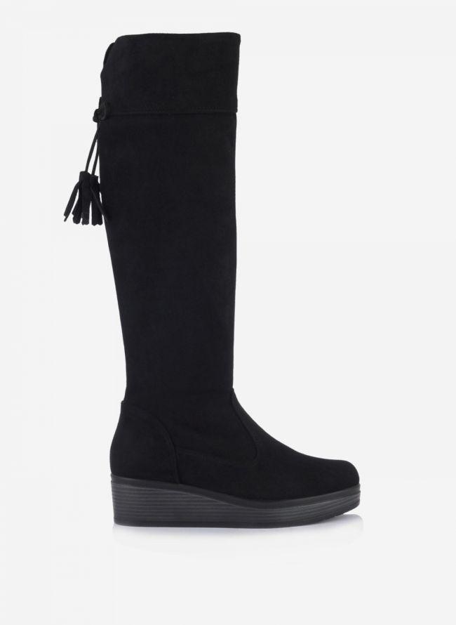 Estil suede μπότες - Μαύρο