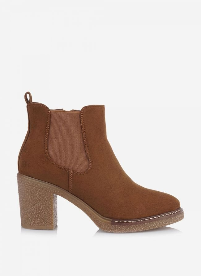 SUEDE ANKLE BOOTS - Ταμπά