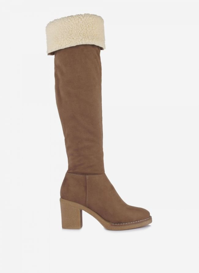 Suede over the knee boots - Πούρο