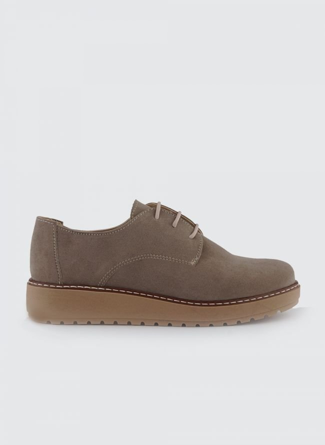 SUEDE FLATFORM OXFORDS S/130