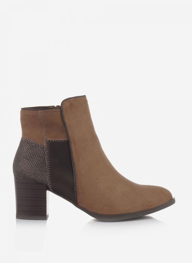 SUEDE ANKLE BOOTS  - Πούρο