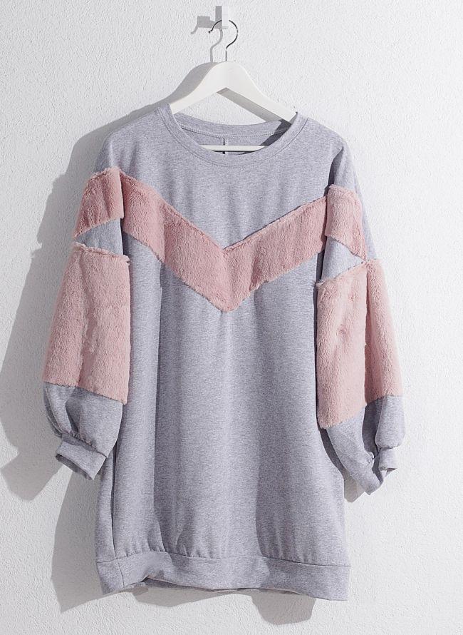 Μπλουζοφόρεμα φούτερ  - Γκρι