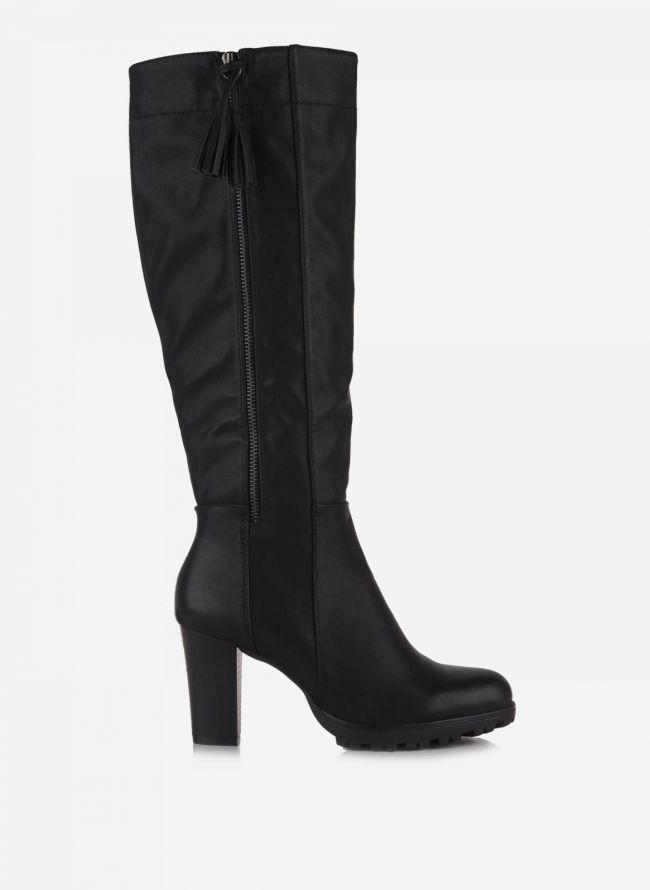 Μπότες με κρόσσια - Μαύρο