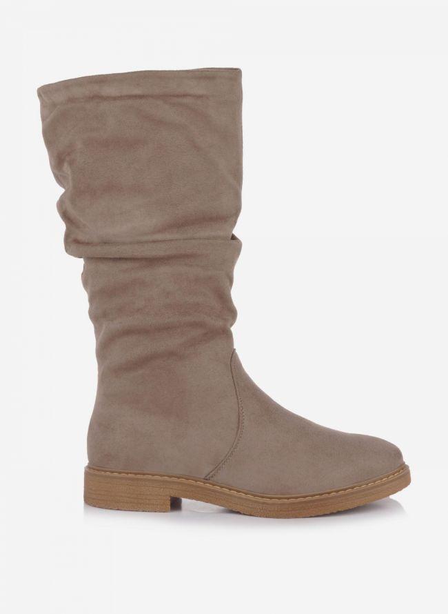 Suede μπότες - Τάουπε