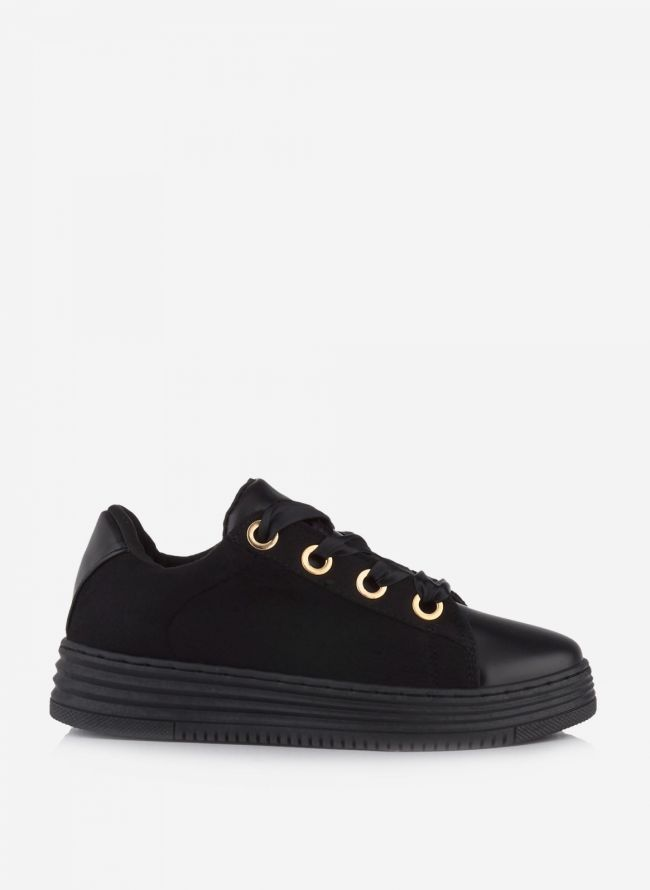 SUEDE SNEAKERS ΜΕ ΚΟΡΔΕΛΑ