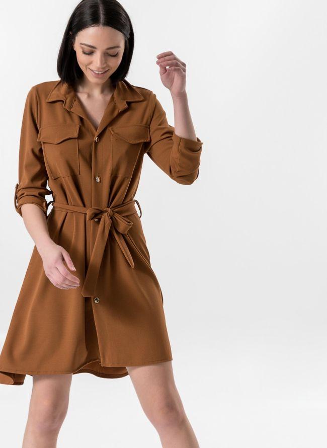 Ασύμμετρο φόρεμα /πουκάμισο - Ταμπά