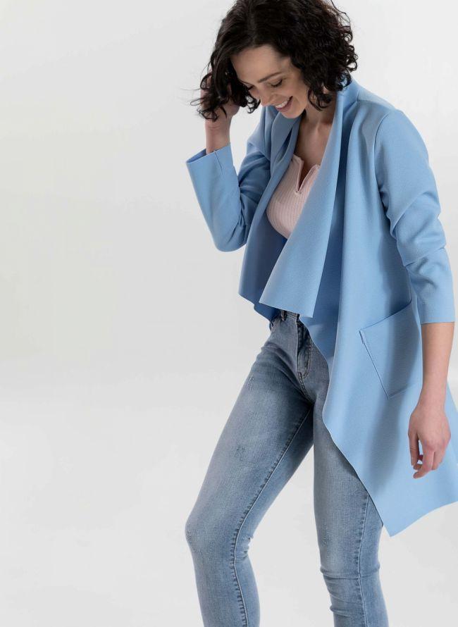 Ασύμμετρο overcoat - Γαλάζιο