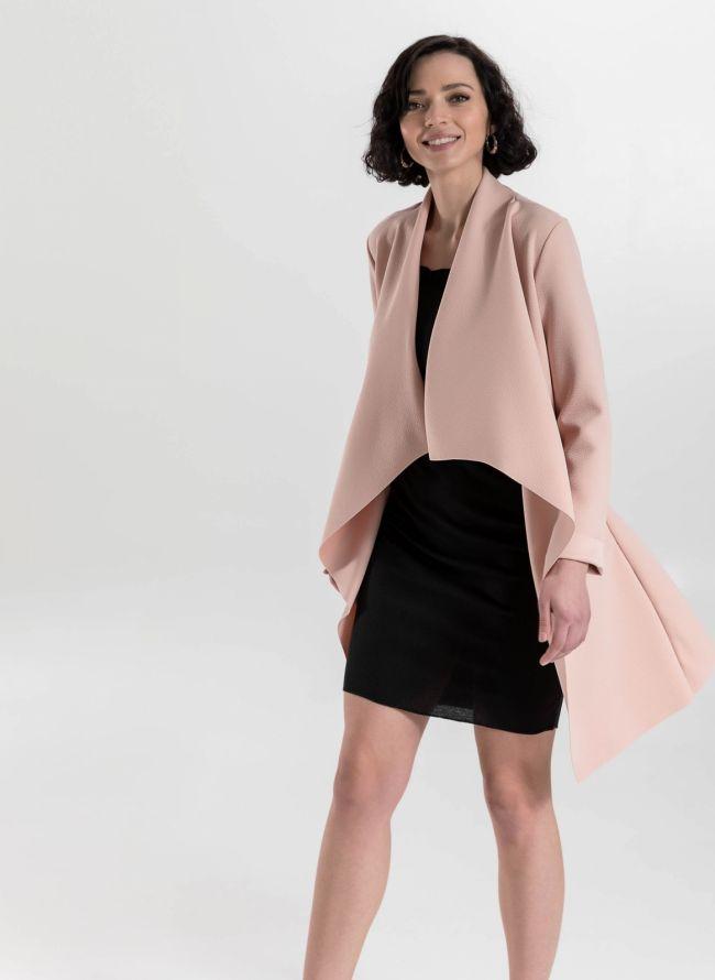 Ασύμμετρο overcoat - Ροζ