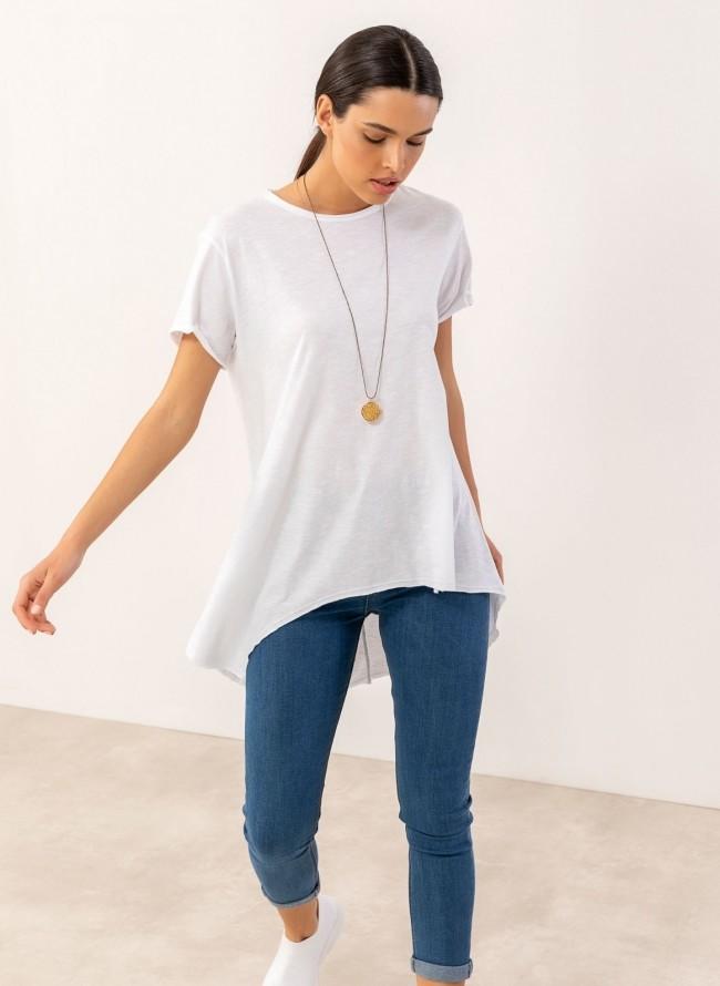 3b6d3f9775aa Ασύμμετρη πουκάμισα με ζωνάκι - Γαλάζιο - TheFashionProject