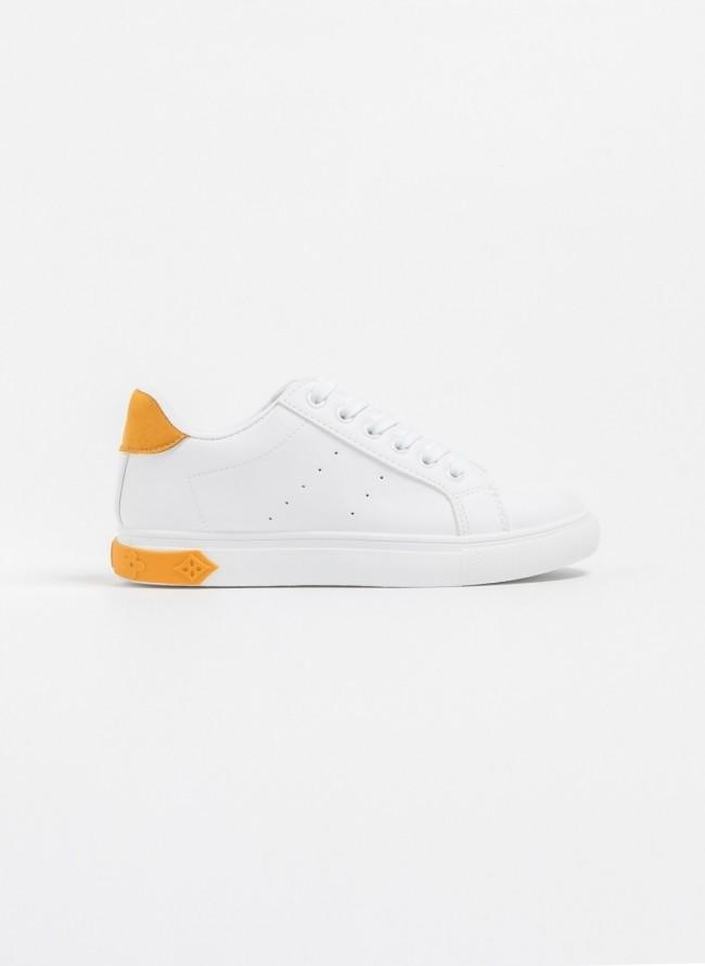 b4fa6b3994f Αθλητικά παπούτσια με διχρωμία - Μουσταρδί