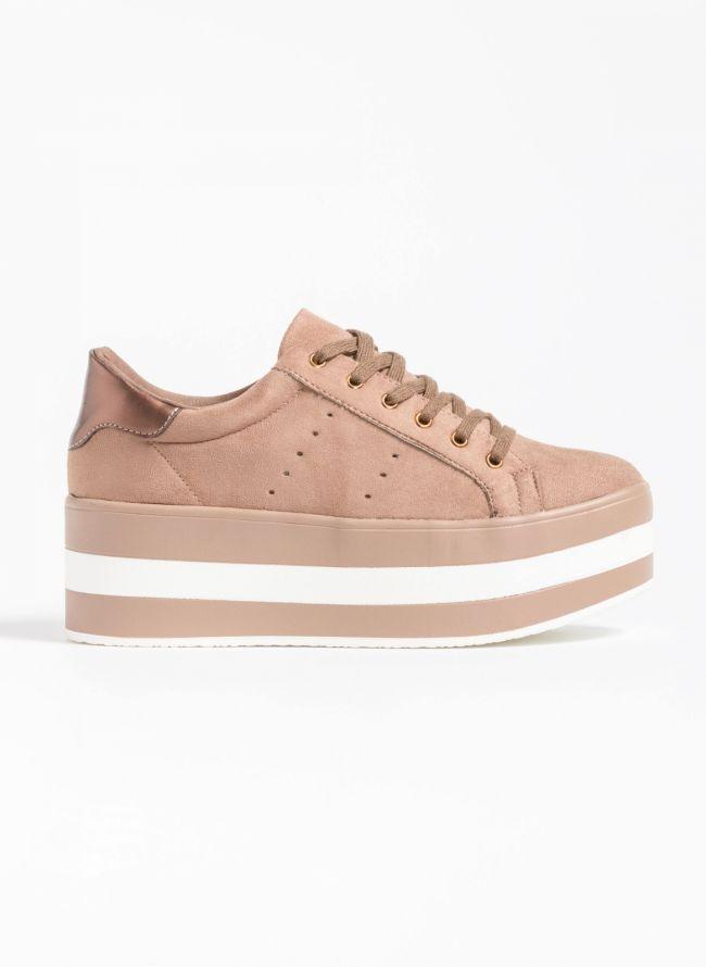 Αθλητικά παπούτσια με flatform σόλα - Πούρο