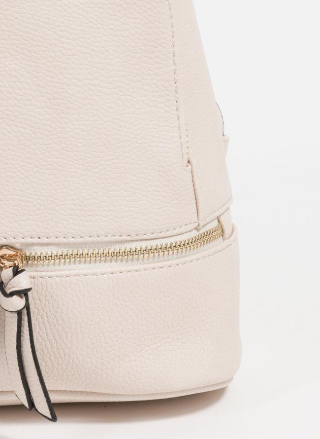 Mini backpack από μαλακού τύπου τεχνόδερμα - Ζαχαρί