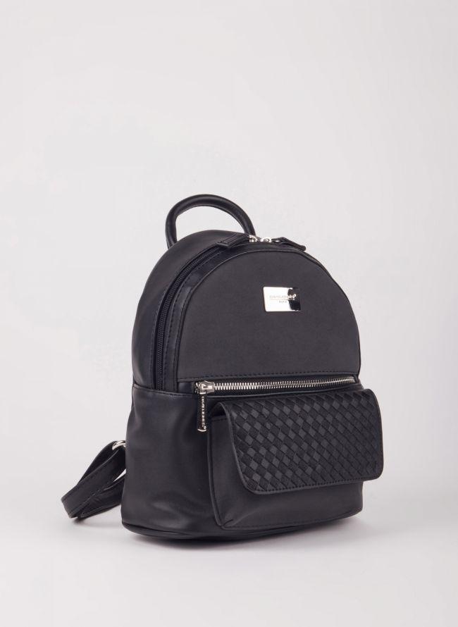 Backpack David Jones - Μαύρο