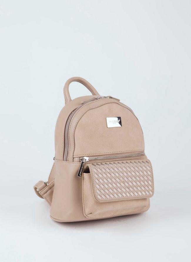 Backpack David Jones - Μπεζ