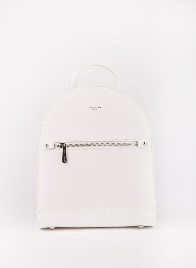 Backpack David Jones - Λευκό