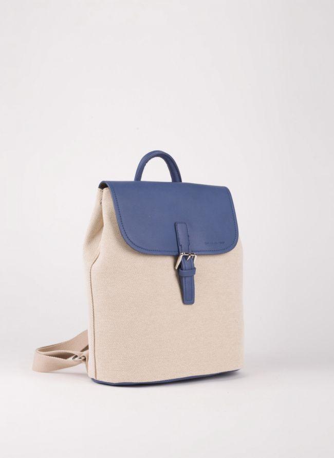 Backpack David Jones με καπάκι - Μπλε