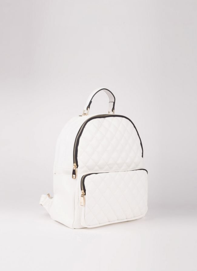 Backpack καπιτονέ - Λευκό